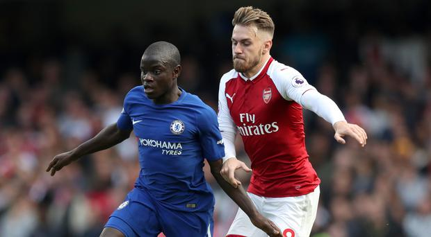 Aaron Ramsey, right, starred for Arsenal