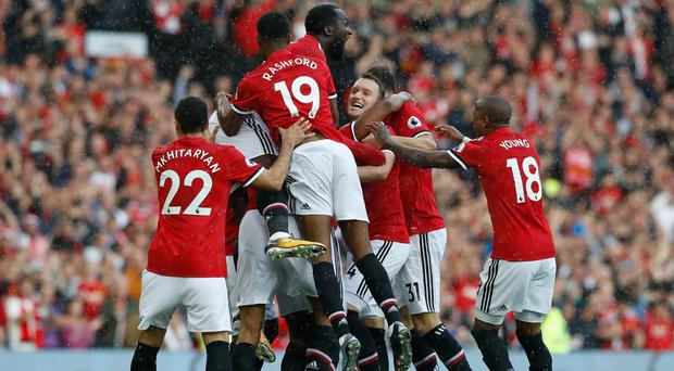 Manchester United were easy winners over Everton