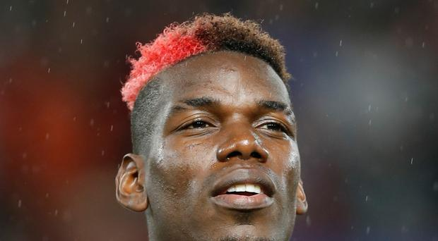 Manchester United's Paul Pogba has a hamstring problem