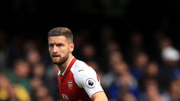 Shkodran Mustafi saw a goal ruled out for offside as Arsenal drew at Chelsea on Sunday.