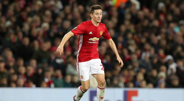 Ander Herrera helped Manchester United to a 4-0 win over Everton