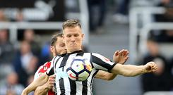Matt Ritchie (front) is urging Newcastle to make new memories