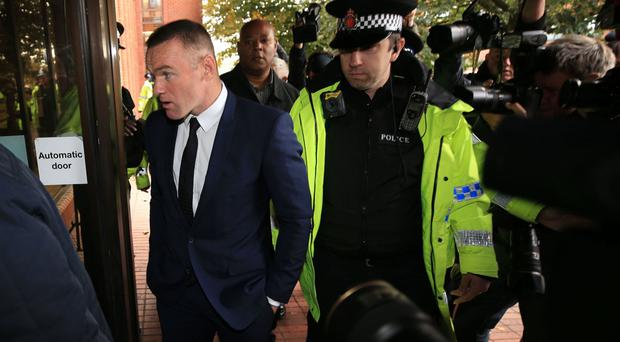 Wayne Rooney pleaded guilty to a drink-driving charge at Stockport Magistrates' Court