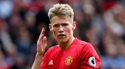 Scott McTominay is looking to make his third competitive Manchester United appearance on Wednesday
