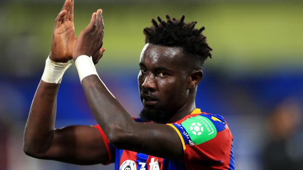 Crystal Palace's Pape Souare applauds the fans after the Carabao Cup match