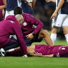 The injury suffered by Manchester City's Ilkay Gundogan is not serious