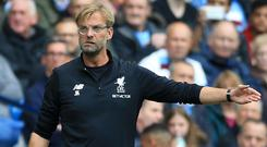 Liverpool manager Jurgen Klopp wants his players to carry on attacking
