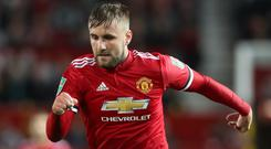 Manchester United's Luke Shaw is returning to fitness