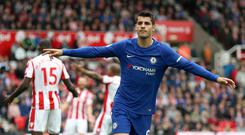 Alvaro Morata has taken to life in the Premier League with ease