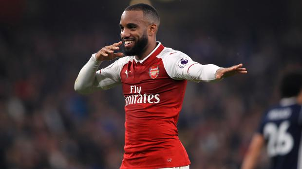 Alexandre Lacazette's two goals secured Arsenal's 2-0 home defeat of West Brom