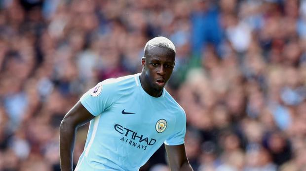 Manchester City's Benjamin Mendy could be out for a while with a knee injury