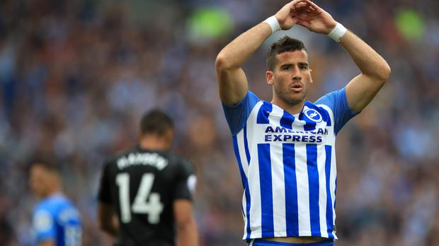 Brighton forward Tomer Hemed will serve a three-match ban, starting immediately