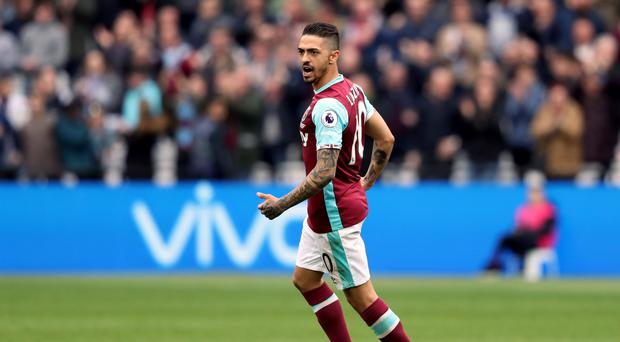 Manuel Lanzini is back from injury for West Ham
