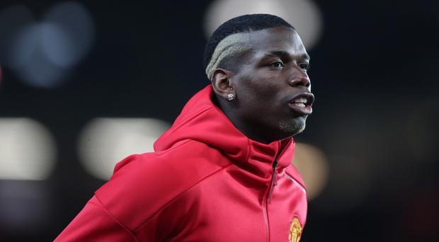 Manchester United's Paul Pogba is injured