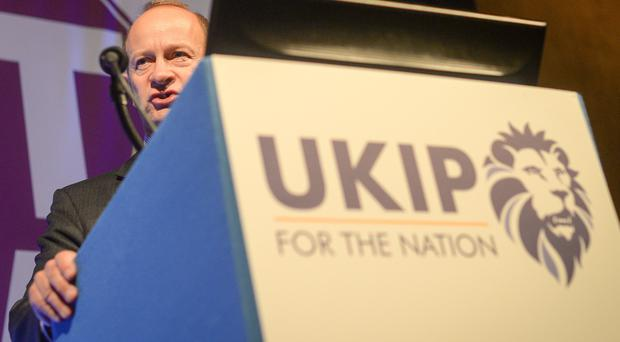 Ukip's new leader Henry Bolton has declared himself happy with the party's new logo