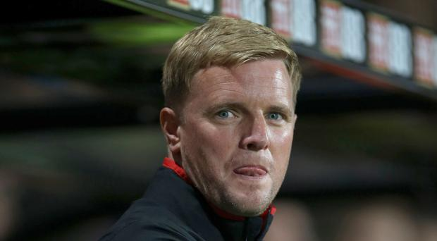 Bournemouth manager Eddie Howe kept his emotions in check