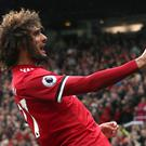 Marouane Fellaini's brace against Crystal Palace was his first for Manchester United