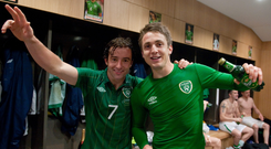 Stephen Hunt and Kevin Doyle. Photo: Sportsfile