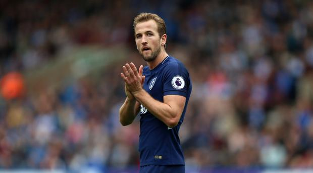 Harry Kane acknowledges the applause after being substituted at the John Smith's Stadium