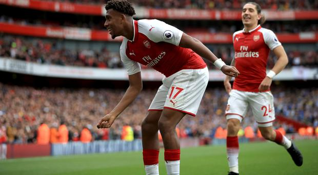 Alex Iwobi finished a fine move for Arsenal's second