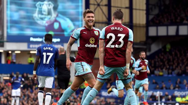 Jeff Hendrick, pictured left, scored the only goal at Goodison