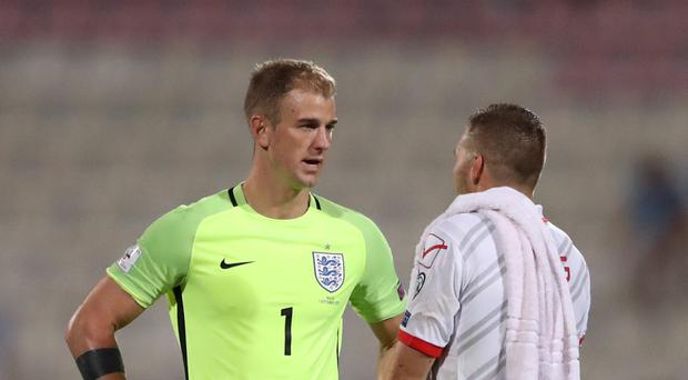 Goalkeeper Joe Hart, pictured left, says he has