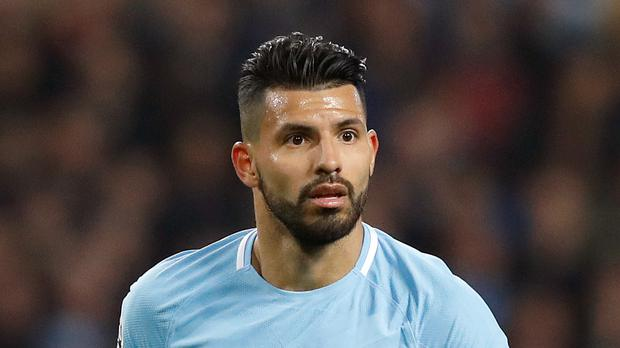 Manchester City striker Sergio Aguero could be sidelined for up to six weeks