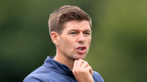 Former Liverpool midfielder Xabi Alonso believes Steven Gerrard (pictured) can be first-team manager in the future
