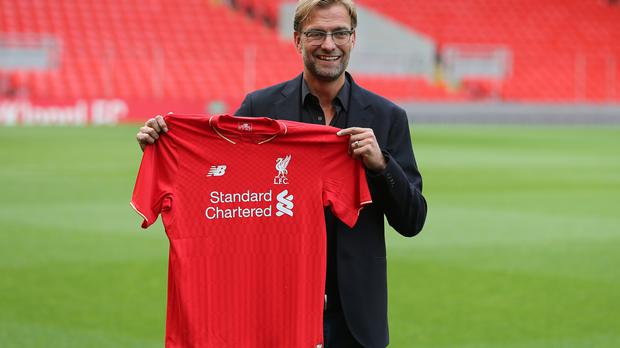 Liverpool manager Jurgen Klopp celebrates two years in charge at Anfield this weekend