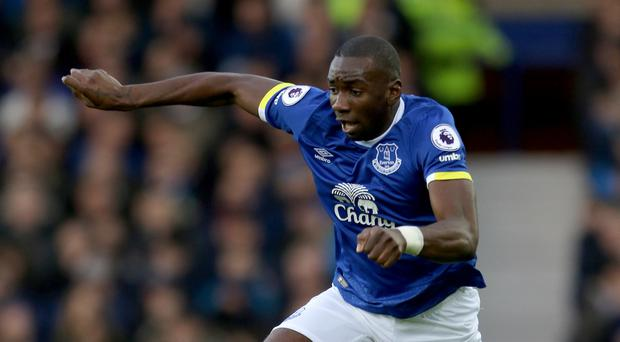 Everton's Yannick Bolasie is recovering well from a serious knee injury