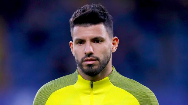 Manchester City's Sergio Aguero was injured in a car crash last month