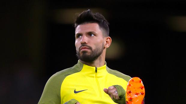 Manchester City's Sergio Aguero is recovering well from a broken rib