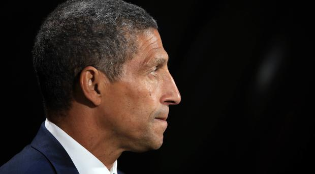 Chris Hughton's Brighton host Everton on Saturday