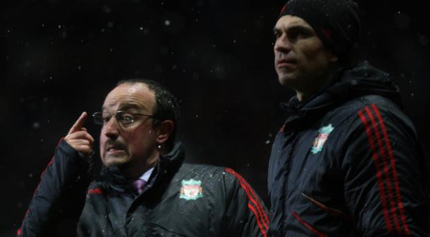 Rafael Benitez, left, and Mauricio Pellegrino worked together at Liverpool