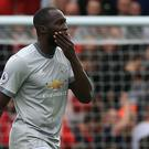 Romelu Lukaku shows his frustration after a stalemate between Liverpool and Manchester United