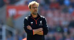 Jurgen Klopp says Liverpool would not let him shut up shop like Manchester United