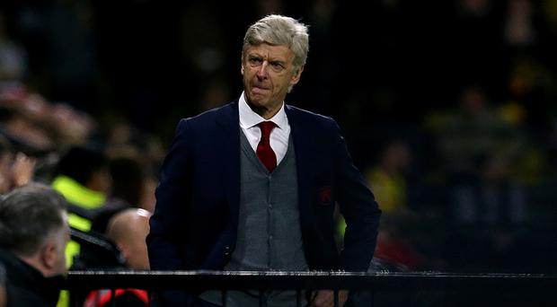 Arsenal manager Arsene Wenger was an unhappy man at Watford