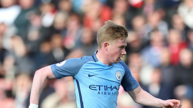 Kevin De Bruyne was outstanding in Manchester City's victory over Stoke