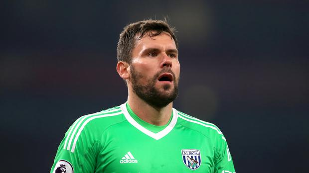 West Brom goalkeeper Ben Foster has a knee injury