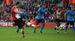 Manolo Gabbiadini, left, was on target twice against Newcastle, but Southampton could not take all three points