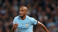File photo dated 21-08-2017 of Manchester City's Vincent Kompany