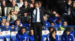 Antonio Conte is not feeling under any pressure at Chelsea