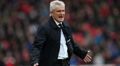 Mark Hughes' Stoke are in the bottom three
