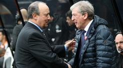 Newcastle boss Rafael Benitez, left, got the better of Crystal Palace counterpart Roy Hodgson