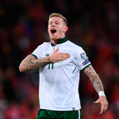 A yellow card for James McClean against Denmark would see him suspended for the home leg Photo: Sportsfile