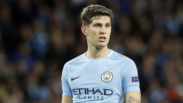 Manchester City defender John Stones is impressed by his team's attack