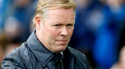 Everton boss Ronald Koeman is under pressure