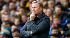 Ronald Koeman is under huge pressure at Everton
