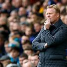 Ronald Koeman spent big but leaves with Everton in the relegation zone