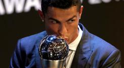 Cristiano Ronaldo retained the prize after scoring 44 goals in 48 appearances in 2017